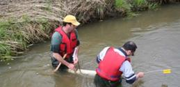 Checking sediment collection traps