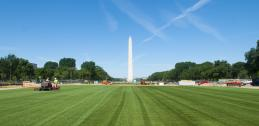 Washington Monument and turf on National Mall