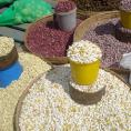 Bean seeds in Zambia marketplace
