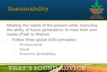 Sustainbility Specialty Certification Statement