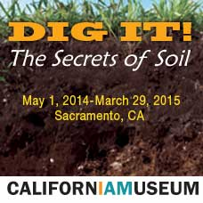 Dig It! The Secets of Soiil at The California Museum, Sacramento, May 1, 2014 - March 29, 2015