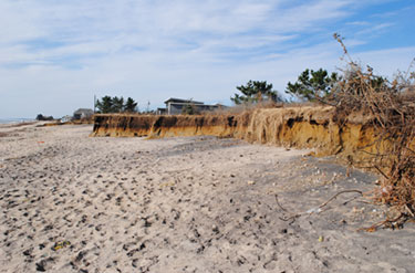 outcrop and beach after Sandy
