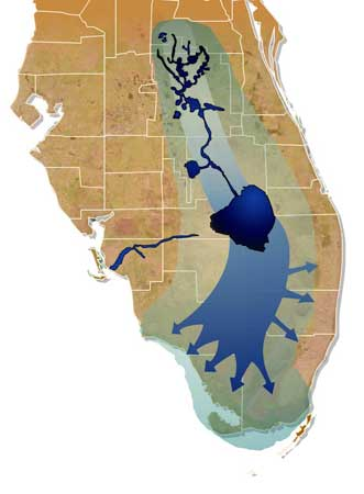 Florida Watershed Map.Wetland Restoration In The Northern Everglades Watershed Potential
