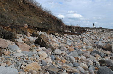 outcrop and boulders after Sandy