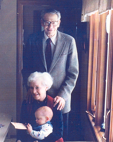 Don & Betty and their grandson Robby Kirkham, Ames, IA, 1988