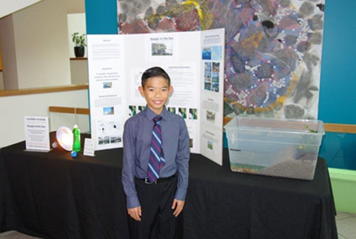 Sixth Grade Brookfield School Student Wins Science Fair Soil