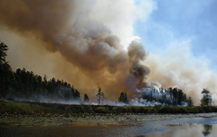 Wildfire in BWCWA