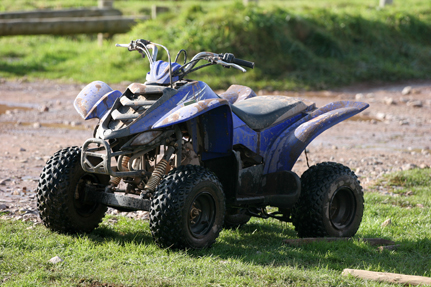All-terrain vehicle ATV on trail