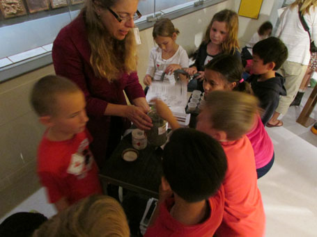 Students learn about soil texture