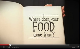 Screen shot of video about soil and food