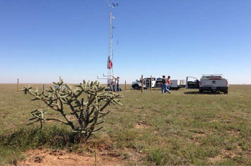 Weather mesonet site in Texas