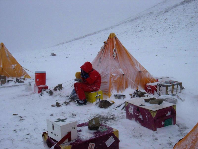Snowstorm in Antarctica