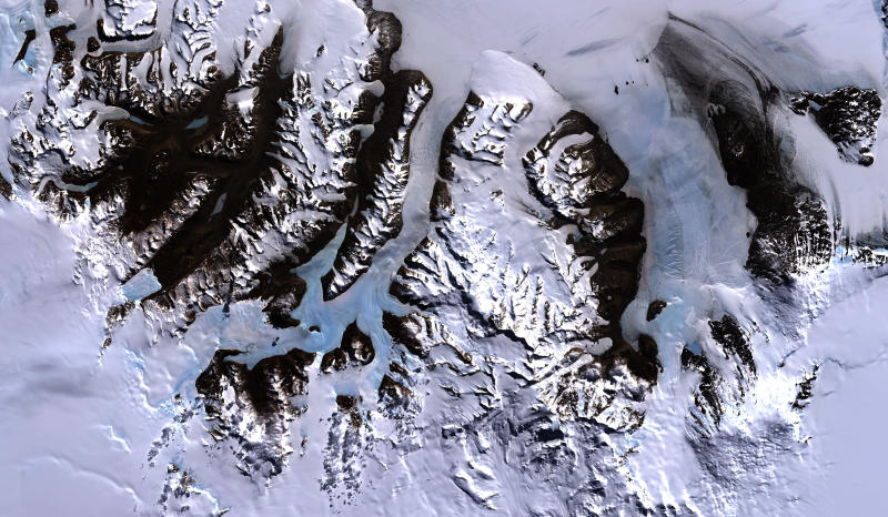 Satellite image of Antarctic Dry Valleys